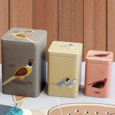 Game Birdy - Set of 3 Storage Tins