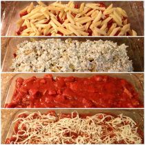 Homemade Baked ziti 4 WW+ points per 3/4 cup