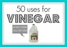 Know your uses for vinegar and natural cleaning agents.