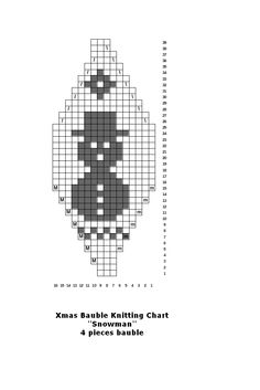 FREE Beaded Bead Pattern ___ Make your own knitted Christmas baubles for your tree Knitted Christmas Decorations, Knit Christmas Ornaments, Knitted Christmas Stockings, Christmas Knitting, Christmas Cross, Knitting Charts, Knitting Patterns, Christmas Makes, Plastic Canvas Patterns