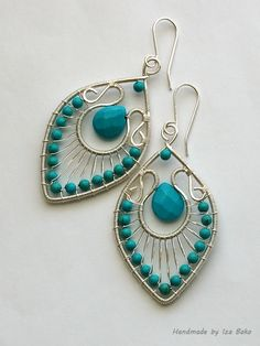An older design now in silver with turquoise | by izabako