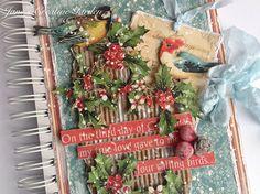 Janin ustvarjalni vrt                                       : GDT Scrapping4fun - # 79. Christmas Journal Diary, My True Love, Paper Clay, Memory Books, Ladder Decor, Birds, Memories, Wood, Christmas