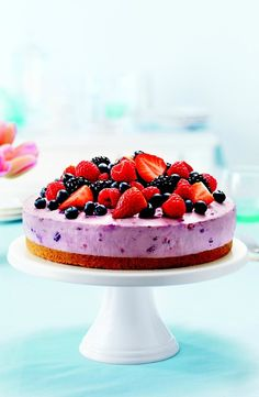 PHILADELPHIA No-Bake Berry Bliss Cheesecake – Does the bliss come from the creamy cheesecake and sweet, juicy berries? Or the fact that it's a no-bake dessert recipe? Trick question: it's both!