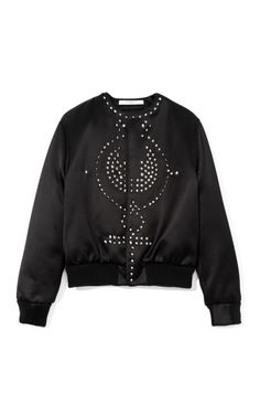 Embellished Satin Duchesse Bomber by Givenchy Now Available on Moda Operandi