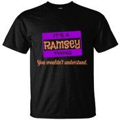 Create your own personalized RAMSEY T Shirt using our online designer. No minimum order.