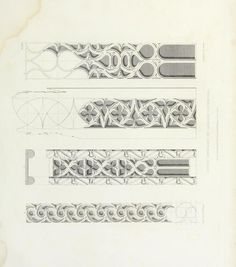 Illustrations of geometric tracery, from the pa...