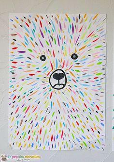 Craft ideas 234890936800886311 - Ours graphisme maternelle Source by mravellech. - Craft ideas 234890936800886311 – Ours graphisme maternelle Source by mravellechapuis - Projects For Kids, Diy For Kids, Crafts For Kids, Arts And Crafts, Craft Kids, Cute Art Projects, Family Art Projects, Rock Crafts, Grafik Art