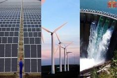 Three best sources of renewable energy like sunlight (Solar Power), wind power, rain water that we can find in every country. Water Turbine, Wind Turbine, Wind Power, Solar Power, Used Solar Panels, Future Energy, Hydroelectric Power, Electrical Engineering, Renewable Energy