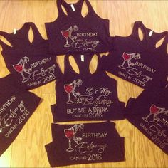 3fda1ca9 6 Birthday Squad Shirts . Women's Birthday Destination t-shirts - Silver  Sparkle shirts- group of 6 birthday t-shirts - new york, vegas