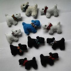 Wee Scotty dog brooches,cute as.