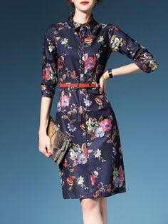 Fashion Buttoned Midi dress