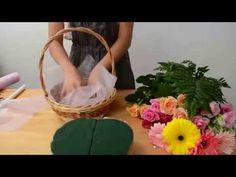 Как собрать корзинку с цветами   ArtHolidays - YouTube Flower Bouquet Boxes, Basket Flower Arrangements, Chocolate Flowers Bouquet, Bouquet Wrap, Diy Bouquet, Beautiful Flower Arrangements, Floral Arrangements, Nylon Flowers, Fabric Flowers