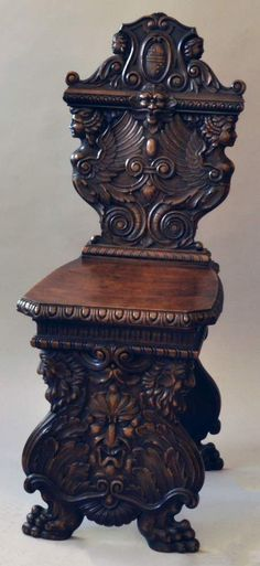 Historismus-Stuhl im Renaissancestil, 2. H. 19. Jh.Wangengestell, Laubholz, gebeizt, reich beschnitz