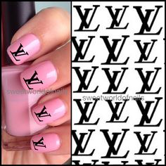 Nail Art Nail Water Decals/ Nail Transfers Louis Vuitton Logo/ Brands logo nail art on Etsy, 1,88 €