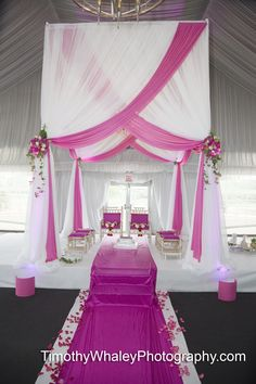 Another option; colored aisle but flowers on white runner underneath; no design.