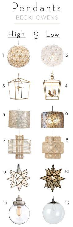 Splurge and Save Pendant Lighting