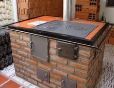rocket stove and grill Outdoor Cooking Stove, Wood Stove Cooking, Outdoor Oven, Kitchen Decor, Kitchen Design, Table D Hote, Barbecue Area, Stove Oven, Rocket Stoves