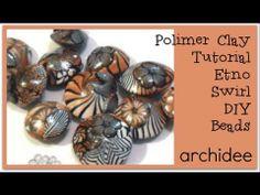Tutorial | Polymer Clay | DIY Swirl Beads by Archidee