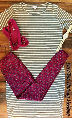 Julia Dress & Leggings...LuLaRoe Lindsay Melione....www.mycomfystyle.com