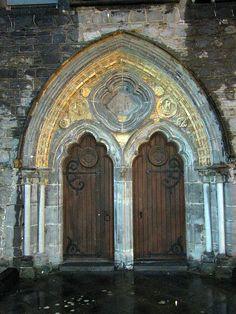 Kilkenny, Ireland church doors by Star Cat, via Flickr