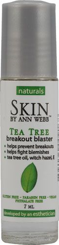 Ann Webb tea tree oil, clears blemishes instantly