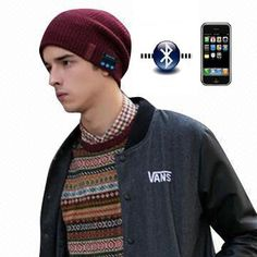 Innovative Product: A trendy Bluetooth headphone beanie with speaker and microphone for mobile phones & iDevices www.globalsources.com/gsol/I/Headphone-beanie/p/sm/1089107551.htm! See more #HeadphoneBeanies at www.globalsources.com/gsol/I/Headphone-beanie-manufacturers/b/2000000003844/3000000213688/34188.htm. Innovative Products, Bluetooth Headphones, Mobile Phones, Innovation, Beanie, China, Beanies, Porcelain, Beret
