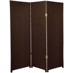 """Oriental Furniture Best Small Size 3 Panel Room Divider, 4-Feet Rattan Like Woven Plant Fiber Folding Privacy Screen, Dark Mocha by ORIENTAL FURNITURE. $77.00. 48"""" by 16"""" by 3/4"""" panels, choose 3, 4 or 6 panels, 4ft. tall privacy screen, double hinged. Japanese, chinese, asian, room dividers, art, lighting, furniture, décor and unique gifts. Extra durable design, kiln dried wood frame w/tough, rattan-like plant fiber cord weave shade. Mocha, beige, black, white, cream, red/bl..."""