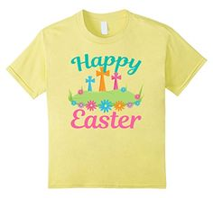Kids Cute Happy Easter T-Shirt with Field of Flowers and pretty crosses. A cute children's Christian tee.  https://www.amazon.com/dp/B06XG598ZM/ref=cm_sw_r_pi_dp_x_YgzWybCBGQSYH