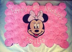 Minnie Mouse Pull Apart Cake | minnie mouse cupcake cake more mouse birthday birthday parties 1st ...