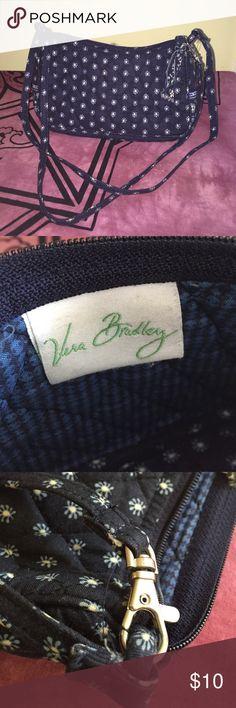 "Vera Bradley Small Shoulder Convertable Adorable Small purse - EUC! Navy blue original Vera Bradley in retired pattern ""Blue Bandana."" Has a convertible strap  so it can be worn as a shoulder bag or cross body. Vera Bradley Bags"