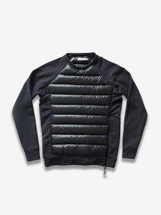 SALE £10 //// Mens King Kouture PU Block Cotton Crew Neck Black Jumper in Medium