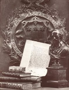 The Grolier Club:  Founded in 1884, the Club Library contains more than 100,000 volumes on the art and history of the book including bibliographies, histories of printing and graphic processes, type specimens, and fine and historic examples of printing, binding, and illustration.