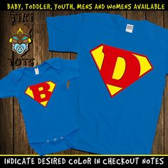Funny Matching Super Dad And Super Baby Hero by TikiTotsShop