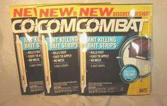 12 Combat Ant Killer Bait Strips,60 Bait Strips,Kills the Colony Peel & Stick  #Combat