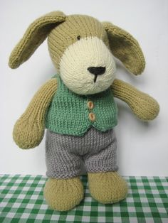 PUPPY TOY KNITTING PATTERNSPuppy is an adorable knitted friend for kids of all ages. With this knitting pattern you can make your own puppy with trousers and little waistcoat.PLEASE NOTE: This listing..