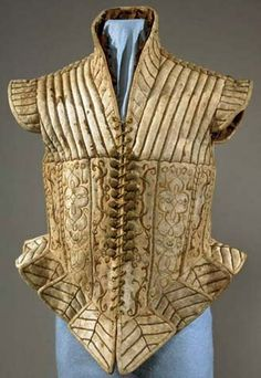 Quilted, embroidered leather doublet- 16th century