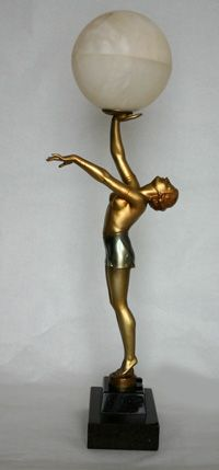 75 Best Spelter Lamps Images On Pinterest Art Deco Lamps Art Deco