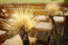 wheat aisle decor