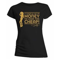 #Dolly parton 'lots of money' #womens #fitted t-shirt - new & official!,  View more on the LINK: http://www.zeppy.io/product/gb/2/121971280977/