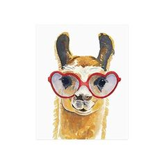 Cute Hipster Llama Collage Poster Paper Print Wall Art Living Room Home Office Decor 16 x 20 *** You can get additional details at the image link.