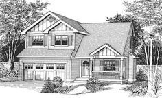 Bungalow Craftsman Elevation of Plan 46064