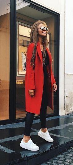 Fall fashion #redcoat