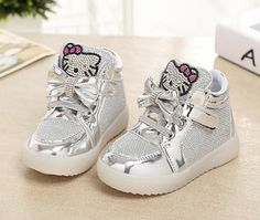 Girls shoes baby Fashion Hook Loop led shoes kids light up glowing sneakers  little Girls princess children shoes with light 289547d03763