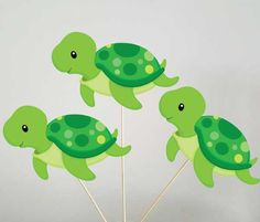 Turtle Centerpieces, Under the Sea Centerpieces by CraftyCue on Etsy