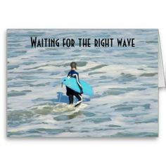 SURFER'S BIRTHDAY WISH GREETING CARD
