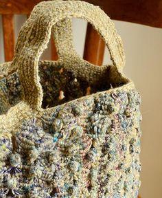 Sophie Digard / wool handbag macrame (S047/54/SS/WHEATHER/NE) ソフィー・ディガー バック