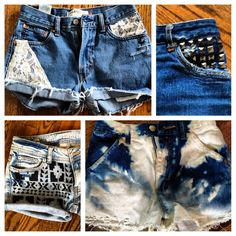 Buttons & Lace Custom Shorts Co. takes your old shorts/jeans and transforms them into unique, wearable, stylish shorts, customized to your style!!! This is awesome for those old, out-of-style jeans in the back of your closet!!!! Check them out at @buttonsandlacee on Instagram!!!!! Repin to spread the word!!:):)