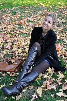 Thigh High Boots, High Heel Boots, Heeled Boots, High Heels, Black Boots Outfit, Sexy Boots, Tights And Boots, Knee Boots, High Leather Boots
