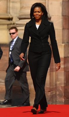 Michelle Obama fashion | First Lady Michelle Obama arrives at Rohan Palace on April 4, 2009 in ...