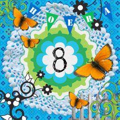 Verjaardagskaart. © De Schildertuin   http://www.schildertuin.nl